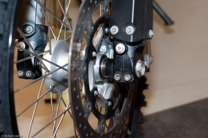 SMC bushing mounted on the ktm 690 enduro  wheel